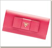 プラダ リボン長財布