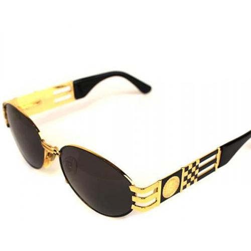 フェンディ サイドロゴ サングラス 黒×ゴールド金具
