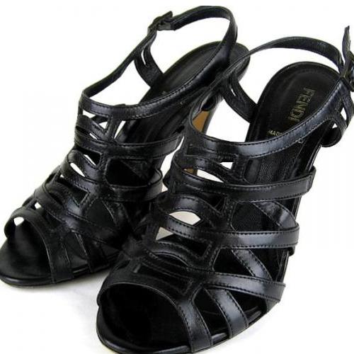 フェンディ ミュール サンダル 靴 size35 レザー 黒