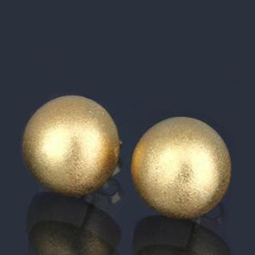地金 丸形ピアス 半円 18金 K18YG-750 イエロー ゴールド