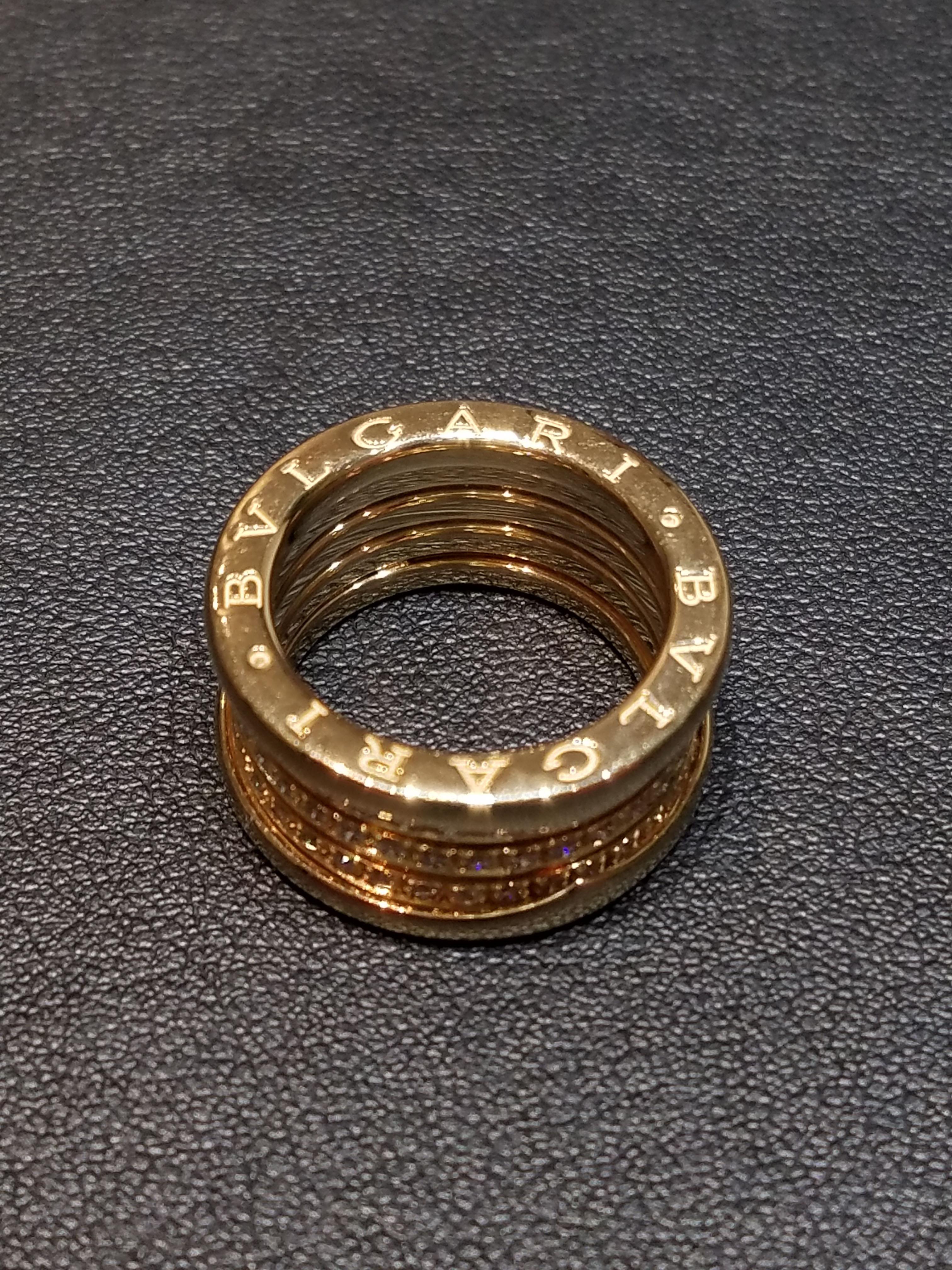 ブルガリ ビーゼロワン フルダイヤリング