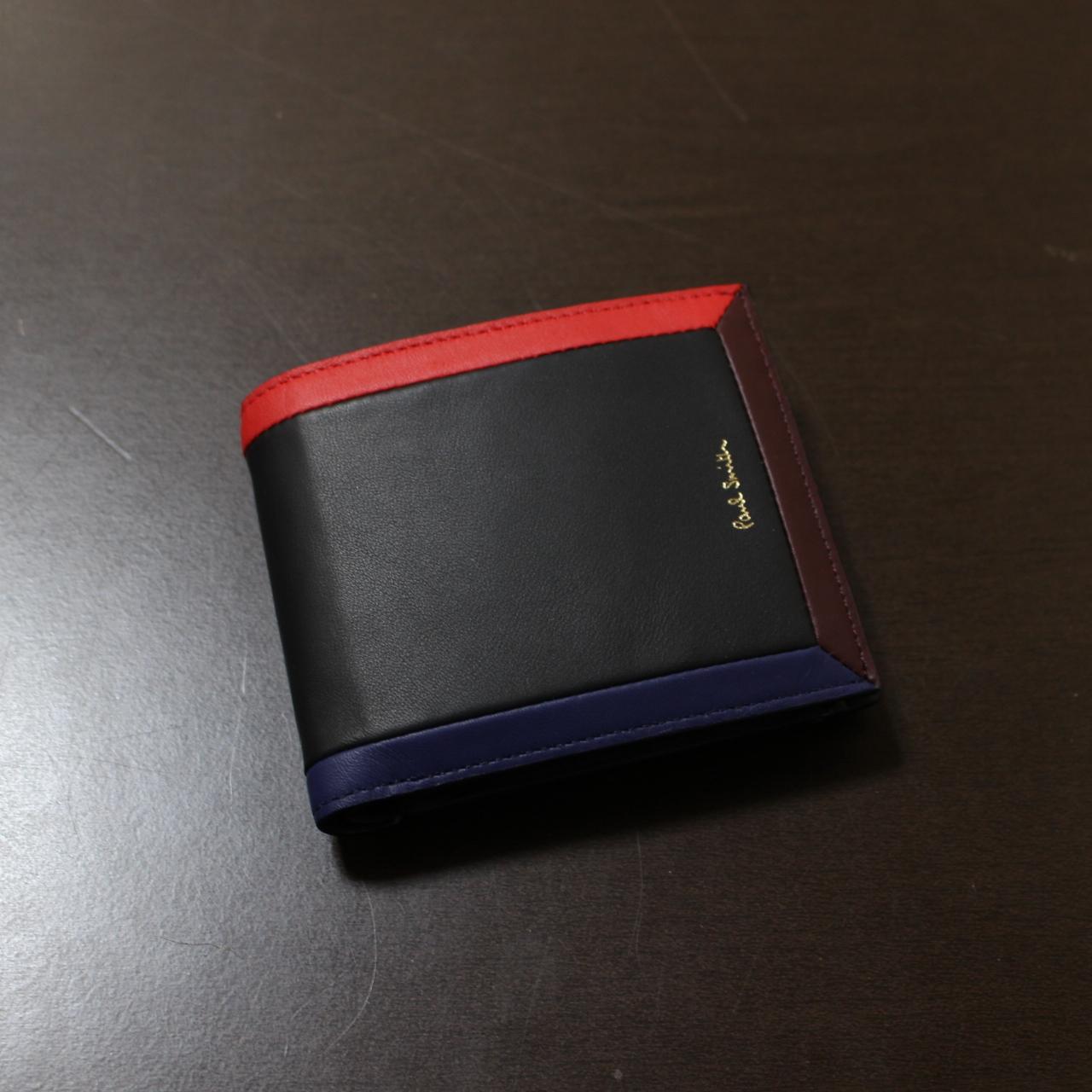 ポールスミス 二つ折り コンパクト財布 黒