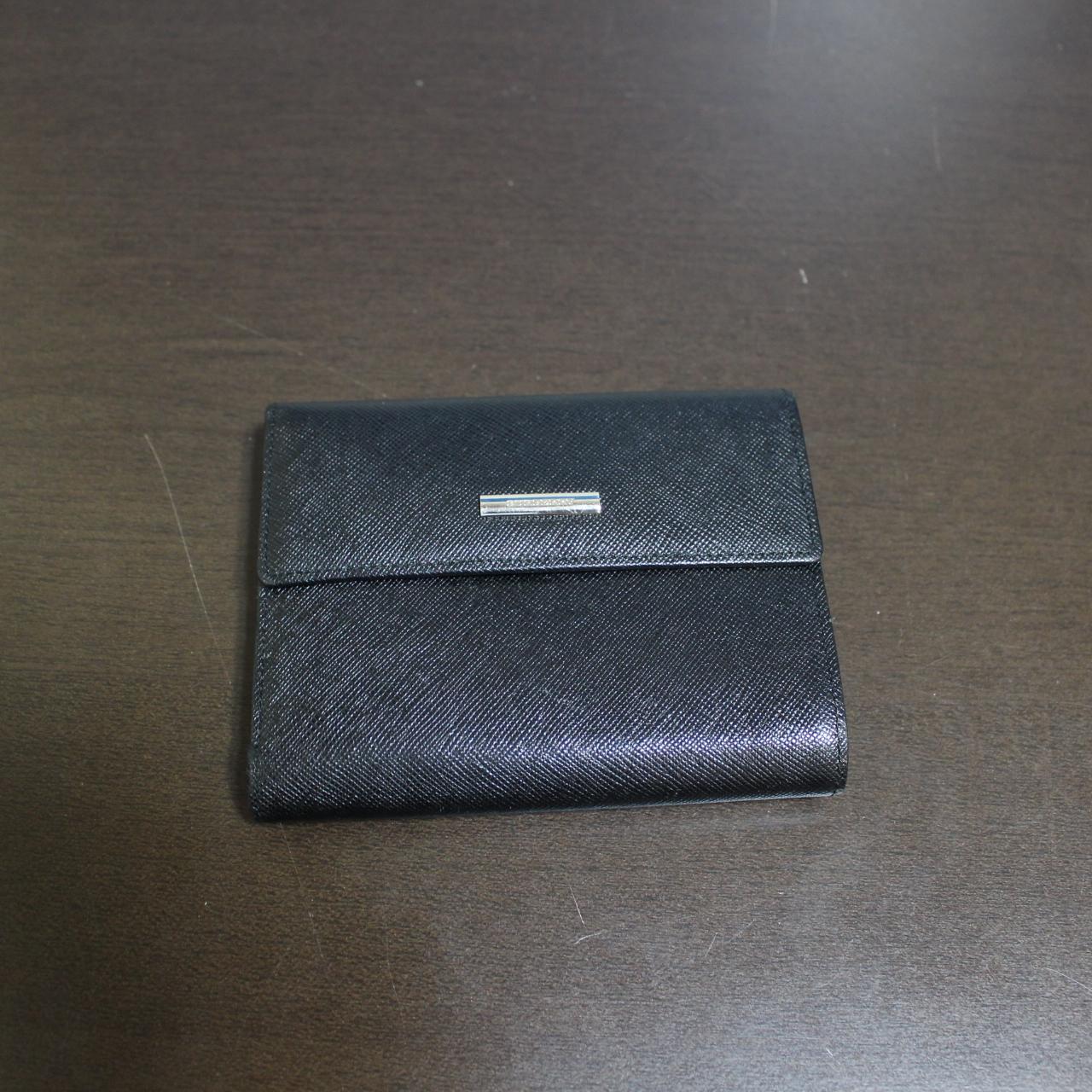 バーバリー がま口 コンパクト財布 ブラック
