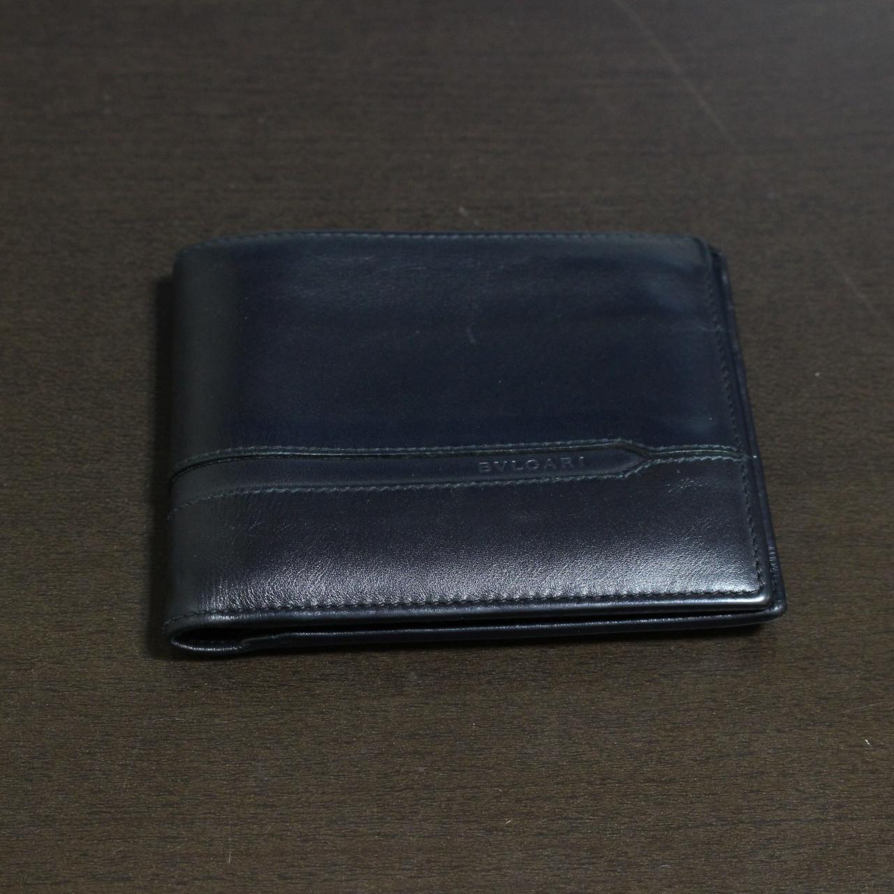 ブルガリ 二つ折り コンパクト財布 ブラック