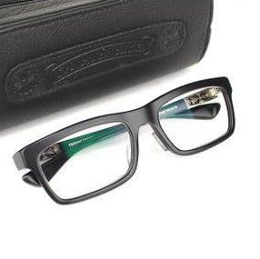 クロムハーツ 伊達メガネ 眼鏡フレーム PENETRANUS サイドクロス 黒