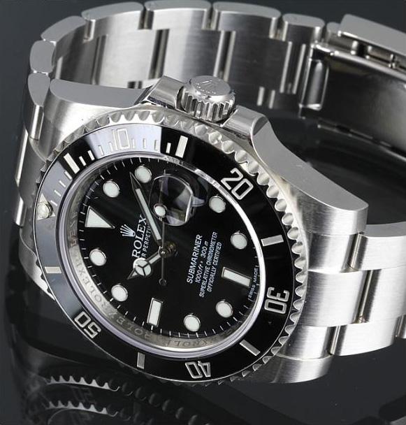 ロレックス サブマリーナ デイト 黒 腕時計