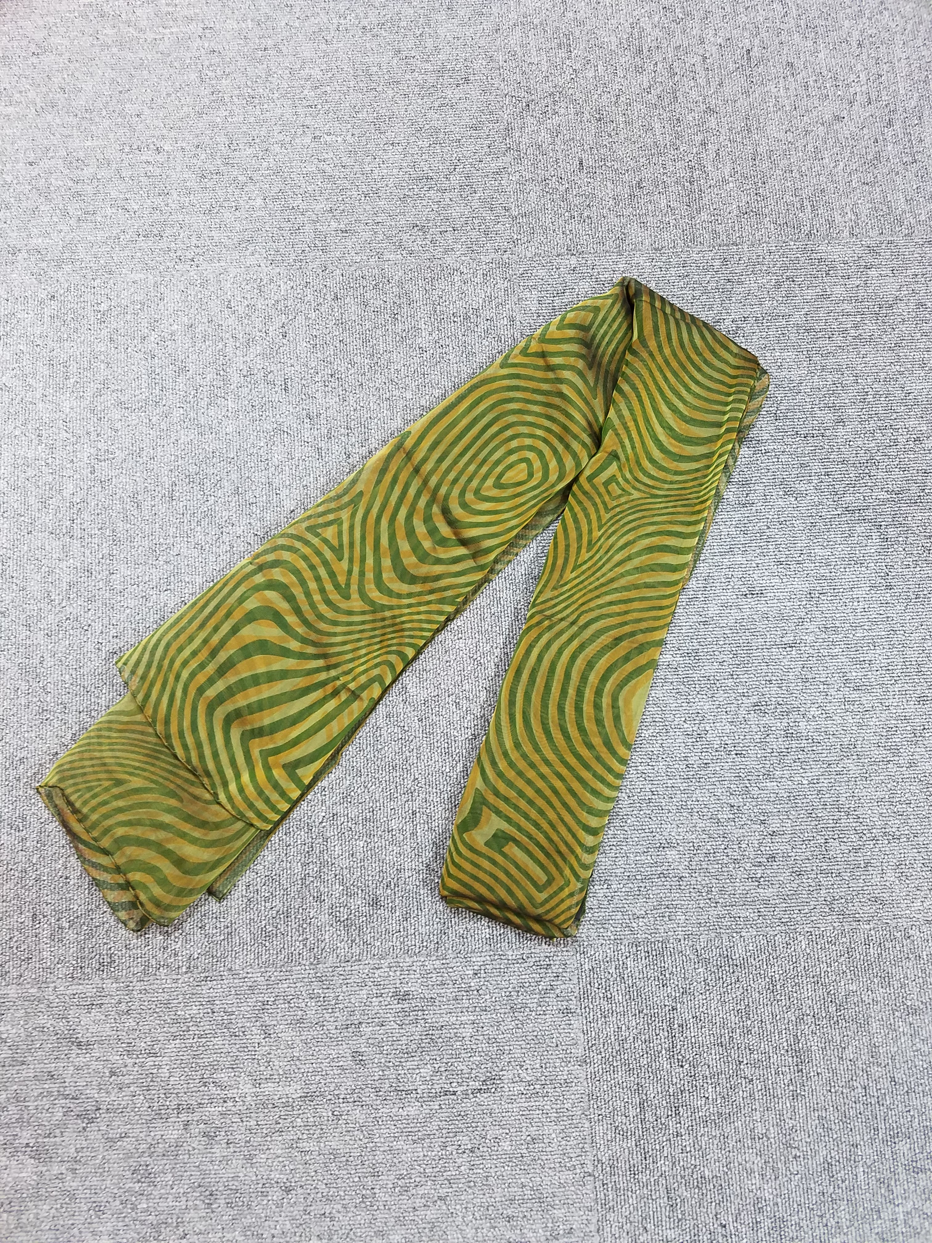 エルメス カレ90 モスリンスカーフ シルク グリーン系