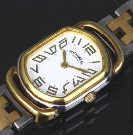 エルメス ラリー レディース 腕時計 白文字盤 SS クォーツ