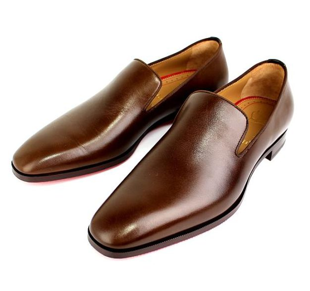 クリスチャン・ルブタン レザー スリッポン 靴 ブラウン size41 1/2