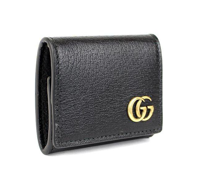 グッチ コインケース 小銭入れ 財布 GGマーモント 黒