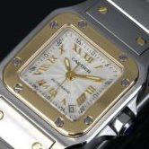 Cartier 極美品 カルティエ サントス ガルベ SM W20045C4 レディース 腕時計