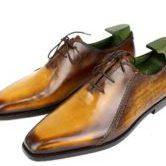 Berluti 銀座 ベルルッティ カリグラフィ メンズ レザー シューズ 靴 ブラウン 8(26.5cm)