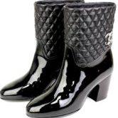 CHANEL シャネル マトラッセ ショートブーツ 靴 黒 size36 1/2C