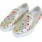 JIMMY CHOO ジミーチュウ スター スタッズ スリッポン スニーカー マルチカラースター 星 靴 シルバー size42 約27cm