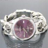 CHROME HEARTS クロムハーツ ロレックス 39mm 114300 CHX ラージチェーン ウォッチバンド レッドグレープ メンズ 腕時計